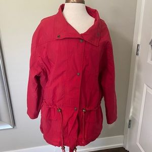 Vintage Andy Johns red jacket utility large